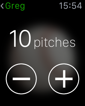 Pitch X on the Watch